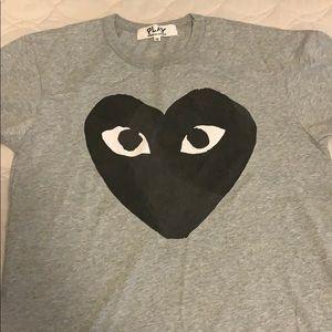 Comme des Garcons play gray T-shirt size M